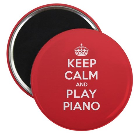 Keep Calm Play Piano Magnet