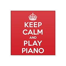 "Keep Calm Play Piano Square Sticker 3"" x 3"""