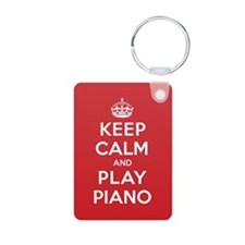 Keep Calm Play Piano Keychains
