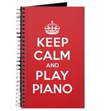 Keep Calm Play Piano Journal