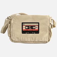 Cassette Black Messenger Bag