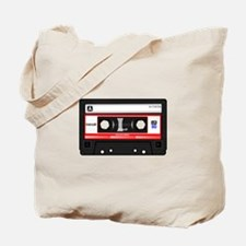 Cassette Black Tote Bag