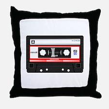 Cassette Black Throw Pillow