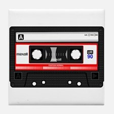 Cassette Black Tile Coaster