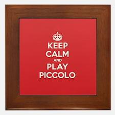 Keep Calm Play Piccolo Framed Tile