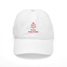 Keep Calm Play Ping Pong Baseball Cap