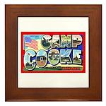 Camp Cooke California Framed Tile