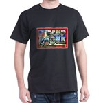 Camp Cooke California (Front) Black T-Shirt