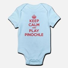 Keep Calm Play Pinochle Infant Bodysuit