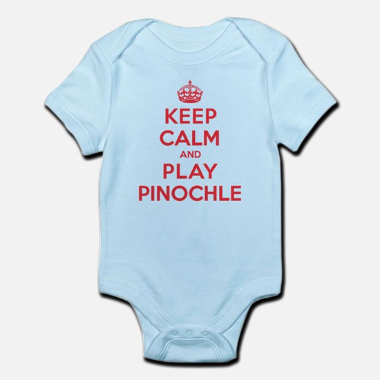 Keep Calm Play Pinochle Infant Bodysuit