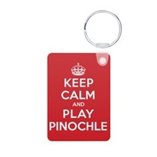 Keep Calm Play Pinochle Keychains