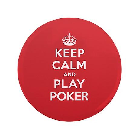"Keep Calm Play Poker 3.5"" Button (100 pack)"