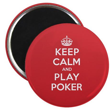 "Keep Calm Play Poker 2.25"" Magnet (10 pack)"