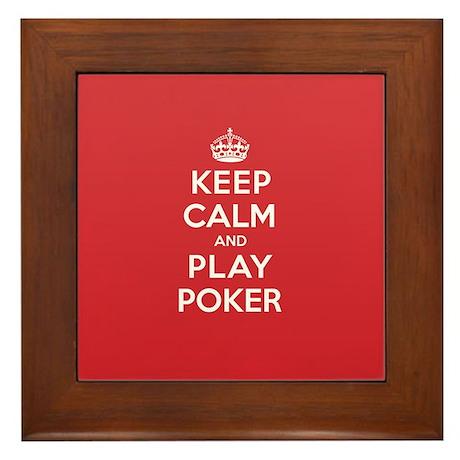 Keep Calm Play Poker Framed Tile