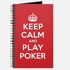 Keep Calm Play Poker Journal