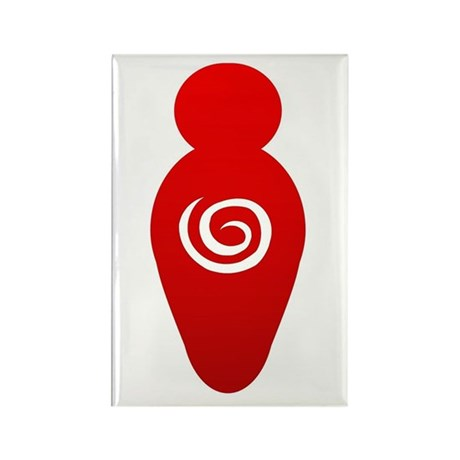 Red Goddess Rectangle Magnet