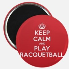 Keep Calm Play Racquetball Magnet