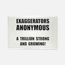 Exaggerators Anonymous Black Rectangle Magnet (10