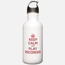 Keep Calm Play Recorder Water Bottle