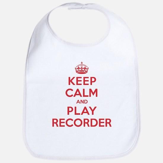 Keep Calm Play Recorder Bib