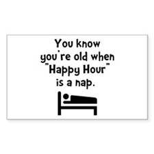 Happy Hour Nap Black Decal