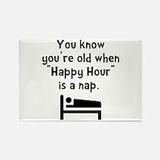 Happy Hour Nap Black Rectangle Magnet (10 pack)