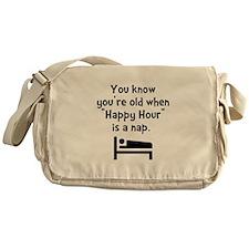 Happy Hour Nap Black Messenger Bag