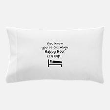 Happy Hour Nap Black Pillow Case