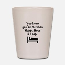 Happy Hour Nap Black Shot Glass