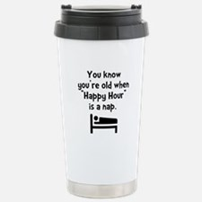 Happy Hour Nap Black Stainless Steel Travel Mug