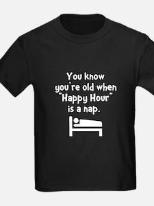 Happy Hour Nap Black T