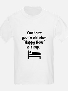 Happy Hour Nap Black T-Shirt