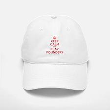 Keep Calm Play Rounders Baseball Baseball Cap