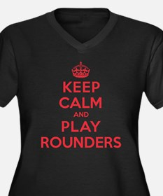 Keep Calm Play Rounders Women's Plus Size V-Neck D