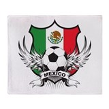 Mexico world cup soccer Fleece Blankets