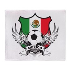Mexico World Cup Soccer Throw Blanket