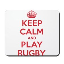 Keep Calm Play Rugby Mousepad