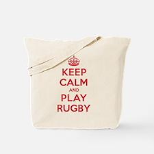 Keep Calm Play Rugby Tote Bag