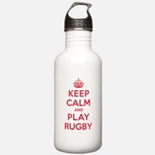 Keep Calm Play Rugby Sports Water Bottle