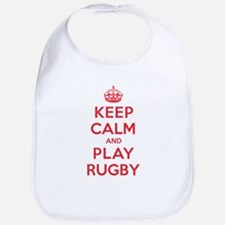 Keep Calm Play Rugby Bib