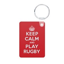 Keep Calm Play Rugby Keychains
