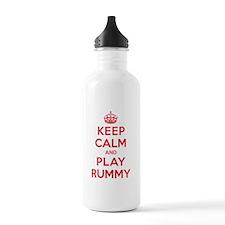 Keep Calm Play Rummy Water Bottle