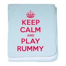 Keep Calm Play Rummy baby blanket