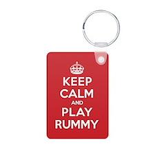Keep Calm Play Rummy Keychains