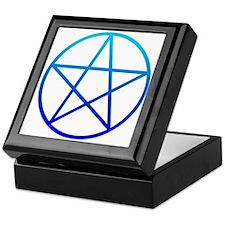 Blue Pentacle Keepsake Box