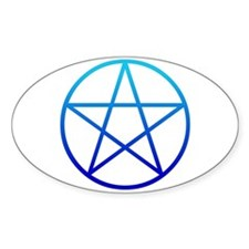 Blue Pentacle Oval Decal