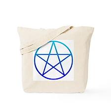 Blue Pentacle Tote Bag