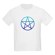 Blue Pentacle Kids T-Shirt