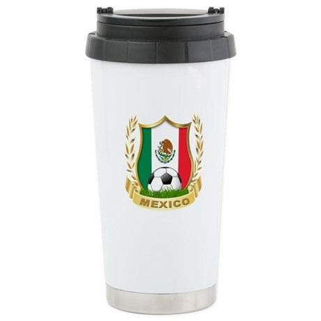 Mexico World Cup Soccer Stainless Steel Travel Mug