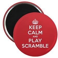 Keep Calm Play Scramble Magnet